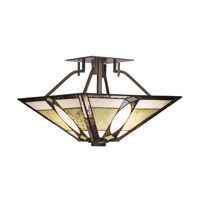 Kichler Lighting Denman 2 Light Semi-Flush in Olde Bronze 65323