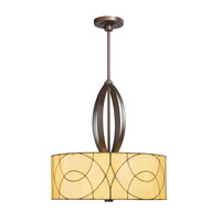 Kichler 65325 Spyro 3 Light 24 inch Dark Bronze Pendant Ceiling Light