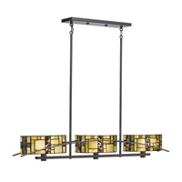 Kichler Lighting Bayonne 3 Light Chandelier in Satin Black 65326