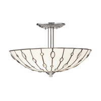 Kichler Lighting Cloudburst 3 Light Semi-Flush in Polished Nickel 65331