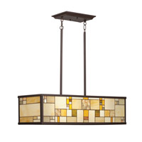 Kichler Lighting Riverview 4 Light Island Light in Olde Bronze 65338 photo thumbnail