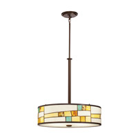 Kichler Lighting Mihaela 4 Light Inverted Pendant in Shadow Bronze 65344