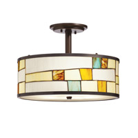 Kichler Lighting Mihaela 3 Light Semi-Flush in Shadow Bronze 65345 photo thumbnail
