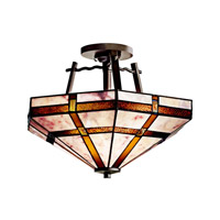 Kichler Lighting Tacoma 2 Light Semi-Flush in Olde Bronze 65350