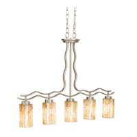 Kichler Lighting Modern Mosaic 5 Light Island Light in Antique Pewter 65351