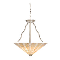 Kichler Lighting Modern Mosaic 3 Light Inverted Pendant in Antique Pewter 65352 photo thumbnail