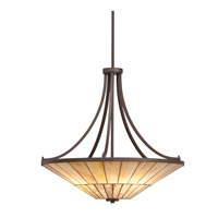 Kichler Lighting Morton 4 Light Inverted Pendant in Olde Bronze 65355