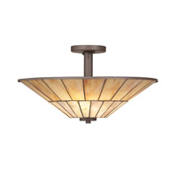 Kichler Lighting Morton 3 Light Semi-Flush in Olde Bronze 65356