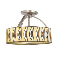 Kichler Lighting Signature 3 Light Semi-Flush in Brushed Nickel 65362