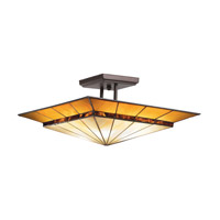 Kichler Lighting Harrison 4 Light Semi-Flush Mount in Olde Bronze 65366 photo thumbnail