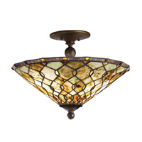 Kichler Lighting Woodbury 3 Light Semi-Flush Mount in Oiled Bronze 65372 photo thumbnail