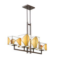 Kichler Lighting Elias 4 Light Single Linear Chandelier in Olde Bronze 65373
