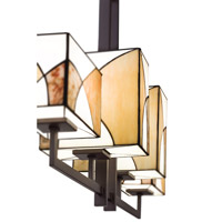 Kichler Lighting Elias 4 Light Single Linear Chandelier in Olde Bronze 65373 alternative photo thumbnail