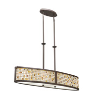 Kichler Lighting Blythe 4 Light Oval Linear Chandelier in Olde Bronze 65380