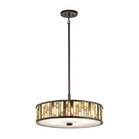 Kichler Marisa 5 Light Pendant Convertible Semi-Flush in Shadow Bronze 65402