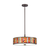 Kichler Shasteen 5 Light Pendant/Semi Flush in Olde Bronze 65403
