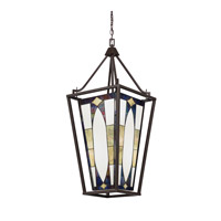 Kichler Denman 4 Light Foyer Pendant in Olde Bronze 65421