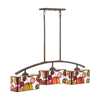 Kichler Berkley 3 Light Chandelier Linear (Single) in Mission Bronze 65425