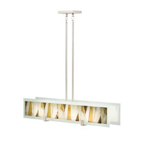 Kichler 65433 Khione 4 Light 7 inch Brushed Nickel Chandelier Linear (Single) Ceiling Light