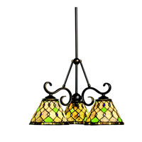 Kichler Lighting Woodbury 3 Light Chandelier in Oiled Bronze 66045 photo thumbnail