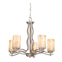Kichler Lighting Modern Mosaic 5 Light Chandelier in Antique Pewter 66050 photo thumbnail
