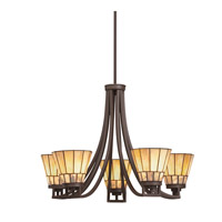 Kichler Lighting Morton 5 Light Chandelier in Olde Bronze 66054 photo thumbnail