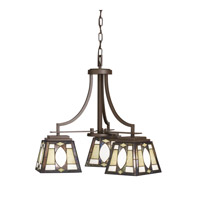 Kichler Lighting Denman 3 Light Chandelier in Olde Bronze 66121
