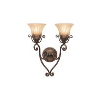 Kichler Lighting Cottage Grove 2 Light Wall Sconce in Carre Bronze 6858CZ photo thumbnail