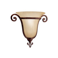 Kichler Lighting Wilton 1 Light Wall Sconce in Carre Bronze 6894CZ