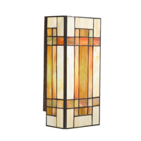 Kichler Lighting Art Glass 2 Light Wall Sconce in Patina Bronze 69004 photo thumbnail