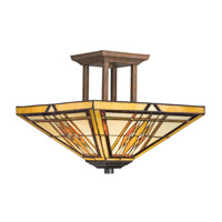 Kichler Lighting Steveston 2 Light Semi-Flush in Dore Bronze 69010 photo thumbnail