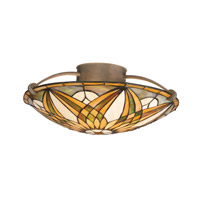 Kichler Lighting Sonora 3 Light Semi-Flush in Bronze 69030 photo thumbnail