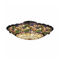 Kichler Lighting Secret Garden 3 Light Semi-Flush in Bronze 69038 photo thumbnail
