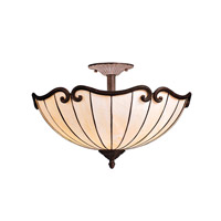 Kichler Lighting Clarice 2 Light Semi-Flush in Tannery Bronze w/ Gold Accent 69046