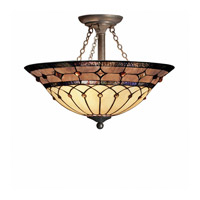 Kichler Lighting Dunsmuir 3 Light Semi-Flush in Bronze 69048