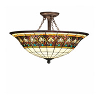 Kichler Lighting Provencia 3 Light Semi-Flush in Bronze 69050 photo thumbnail