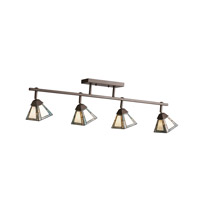 Kichler Lighting Adjustable Rail 4 Light Rail Light in Olde Bronze 69088 photo thumbnail