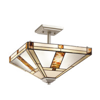 Kichler Lighting Bryce 3 Light Semi-Flush Mount in Brushed Nickel 69164 photo thumbnail