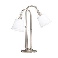Kichler Lighting Westwood Blaine 2 Light Table Lamp in Brushed Nickel 70228NIW