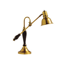 Kichler Lighting Westwood at Work 1 Light Desk Lamp in Antique Brass 70383