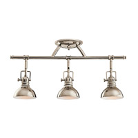 Hatteras Bay 3 Light Polished Nickel Rail Light Ceiling Light, MR16