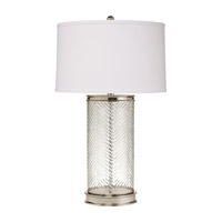 Kichler Lighting Westwood Herringbone 1 Light Table Lamp in Polished Nickel 70869CA