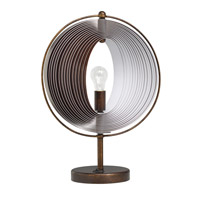 Kichler Westwood Whirl 1 Light Accent Table Lamp in Bronze 70892 photo thumbnail