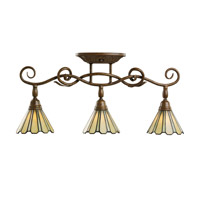 Kichler Lighting Fixed Rail 3 Light Rail Light in Tannery Bronze w/ Gold Accent 7702TZG photo thumbnail