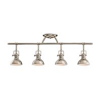 Hatteras Bay 4 Light Polished Nickel Rail Light Ceiling Light, MR16
