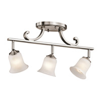 Kichler Lighting Wellington Square 3 Light Rail Light in Classic Pewter 7705CLP