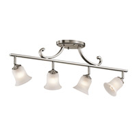 Kichler Lighting Wellington Square 4 Light Rail Light in Classic Pewter 7706CLP