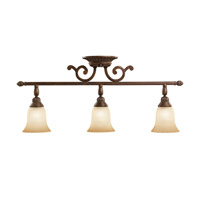 Kichler Lighting Larissa 3 Light Rail Light in Tannery Bronze w/ Gold Accent 7713TZG
