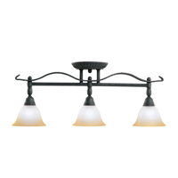 Kichler Lighting Pomeroy 3 Light Rail Light in Distressed Black 7734DBK photo thumbnail