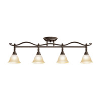 Kichler Lighting Pomeroy 4 Light Rail Light in Distressed Black 7744DBK